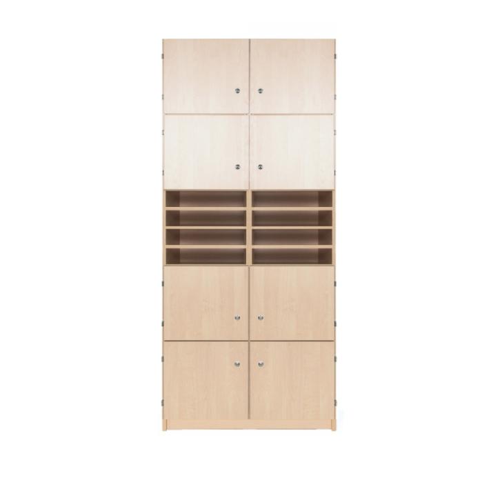 Lehrerschließfachschrank mit 8 Postfächern 2-reihig, Breite: 41 cm, Höhe: 190 cm (Variante wählen)