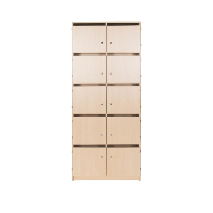 Lehrerschließfachschrank mit Briefschlitz 2-reihig, Breite: 80 cm, Höhe: 190 cm (Variante wählen)