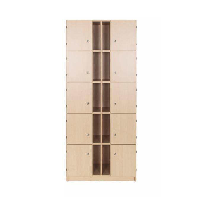 Lehrerschließfachschrank mit Postfach 2-reihig, Breite: 80 cm, Höhe: 190 cm (Variante wählen)