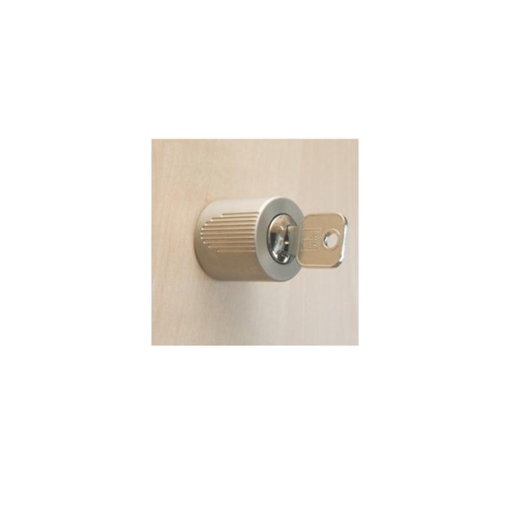 Drehzylinder matt vernickelt für Schrankbaukasten