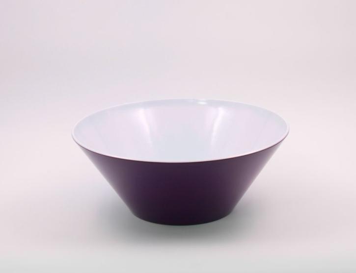 Schale aus robustem Melamin, 4 Liter, Farbe brombeere