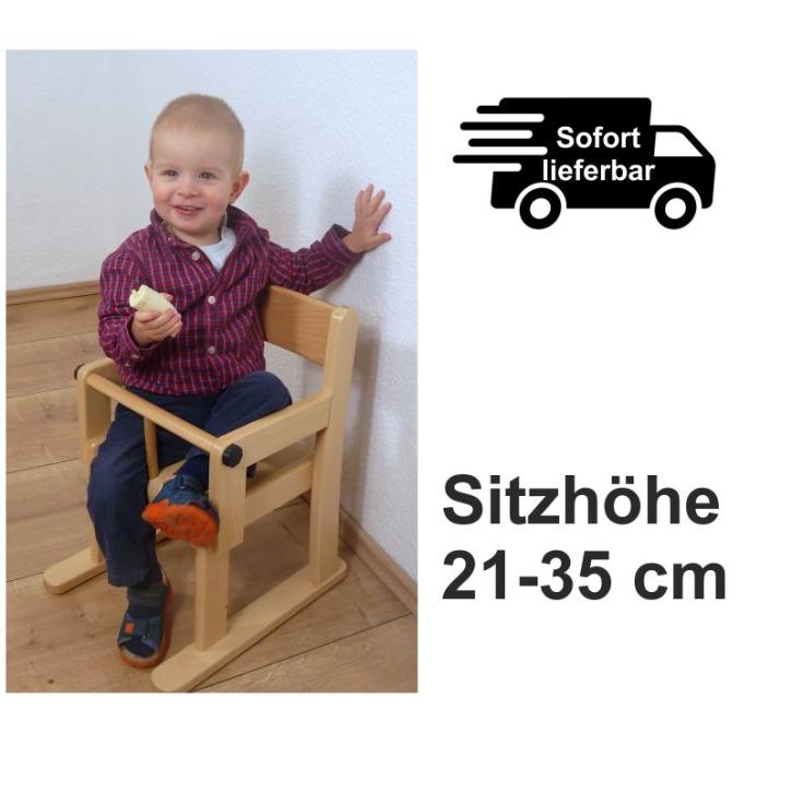 Armlehnenstuhl mit Sicherheitsbügel (Sitzhöhe 21+22+26+31+35 cm)