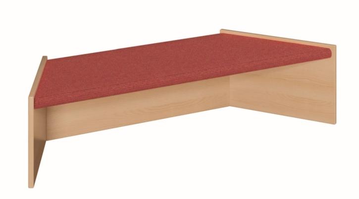 Trapez klein, B/H/T 125/78 x 30 x 40 cm