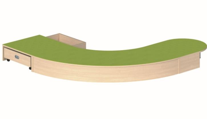 Podestanlage, B/H/T 220 x 24 x 255 cm