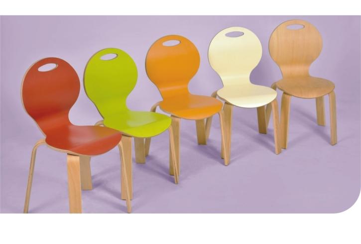 Stapelstuhl PEARL, Sitzschale farbig, Sitzhöhe 31 cm