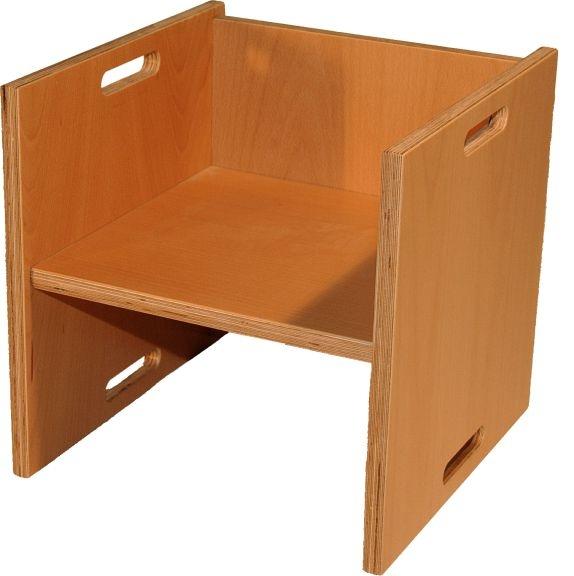 Wendehocker, geschlossene Seiten, Sitzhöhen 21, 26 und 34 cm, mit Tischfunktion