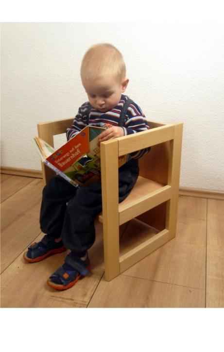 Wendehocker, offene Seiten, Sitzhöhen 21, 26 und 34 cm, mit Tischfunktion