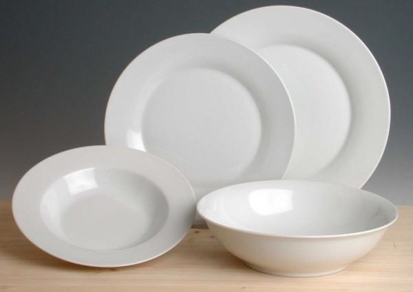 Porzellan gut und günstig - Teller flach groß, Ø 24,5 cm, H 25 mm