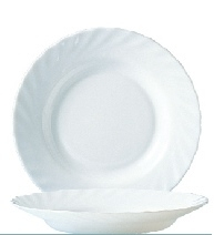 "Hartglas ""Trianon"" - Suppenteller / Teller tief Ø 22,5 cm, H 35 mm"