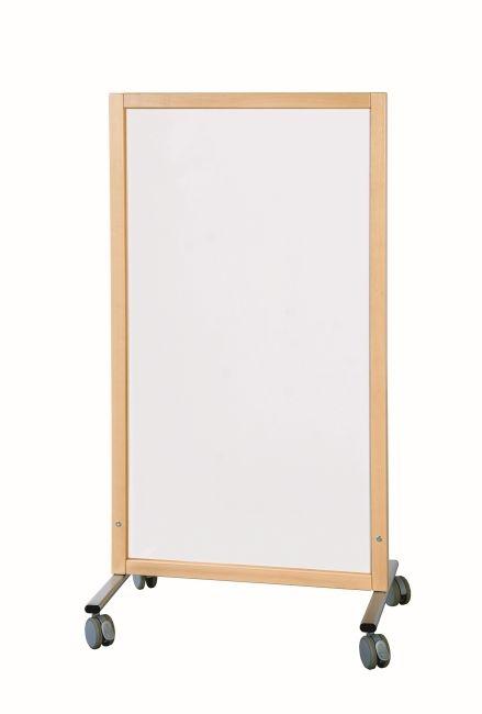 Trennwand Tafel weiß, B/H/T 74 x 137 x 50 cm