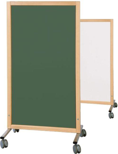 Trennwand Tafel grün/weiß, B/H/T 74 x 137 x 50 cm