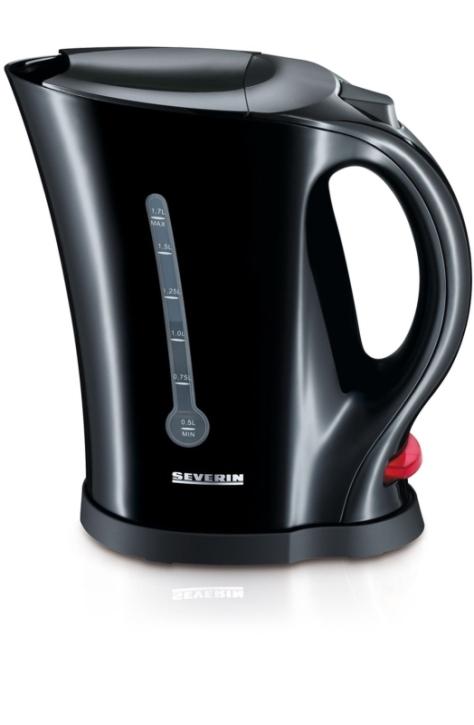 Wasserkocher 1,70 Liter, 2200 Watt, schwarz