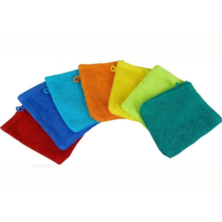 Waschhandschuhe 16x21 cm, schwere Qualität (Farbe wählen)