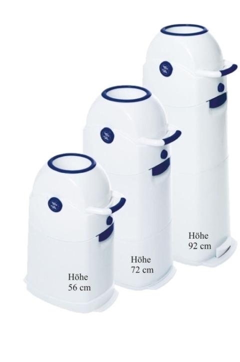 Windeleimer mittel, Kapazität ca. 50 Windeln, H 72 x B 30 x T 42 cm