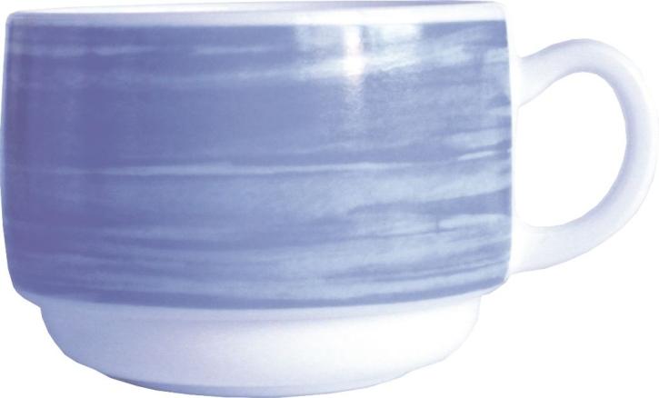 Obertasse Brush BLAU, 0,19 Liter, Ø 8,0 x H 5,8 cm