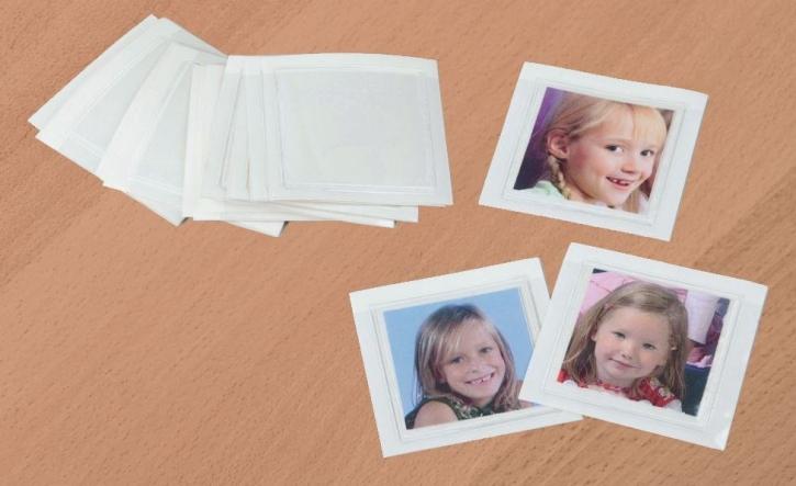 25 transparente Kunststofftaschen, selbstklebend, für Fotos der Kinder
