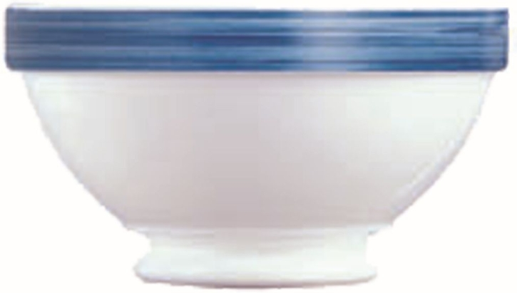 Suppenschale mit Fuß 0,53 Liter Brush JEANS, Ø 132 x H 74 mm