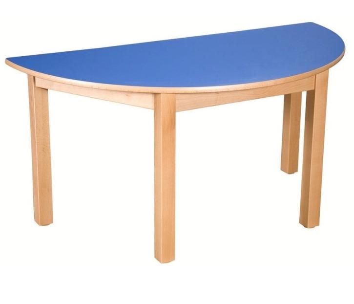 Halbrund-Tisch 120x60 cm, Formica-Tischplatte (Variante wählen)