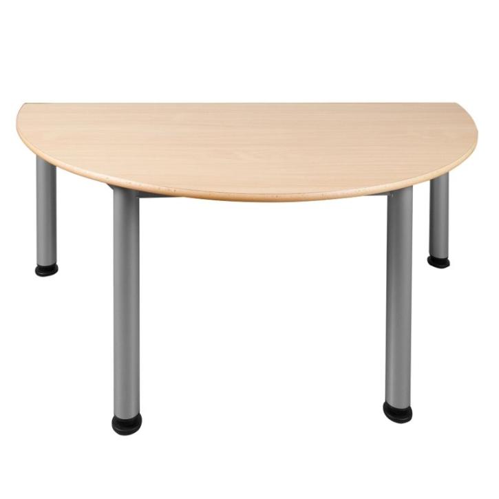 Feststehender Halbrund-Tisch mit Stahlgestell (Variante wählen)
