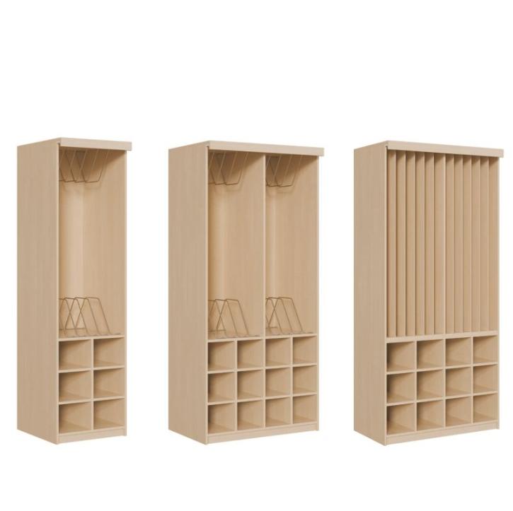 Platzsparende Schränke, Kapazität 6-10-12 Polster, mit Vorhangeinrichtung, OHNE Vorhang (Variante wählen!)