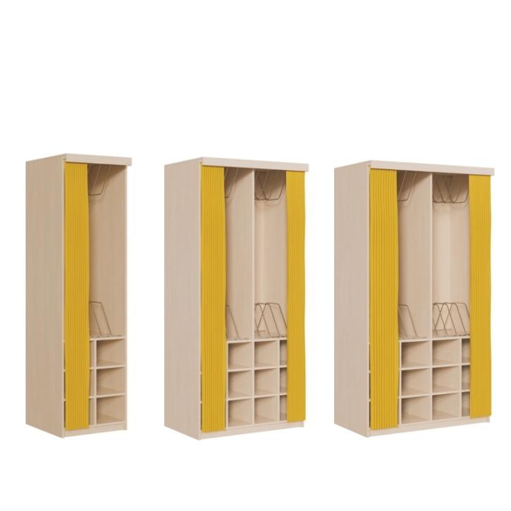 Platzsparende Schränke, Kapazität 6-10-12 Polster, mit Vorhangeinrichtung, MIT Vorhang (Variante wählen!)