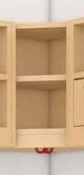 (16) Innenecke für Ablage 2-reihig, B 35 x H 46 x T 35 cm
