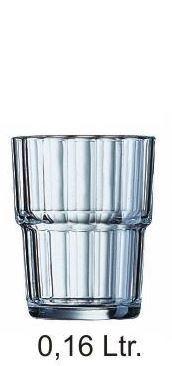 """Norvege"" Stapelglas 0,16 Liter, Ø 65 x H 82 mm"