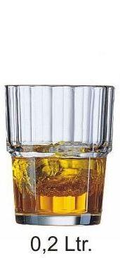 """Norvege"" Stapelglas 0,20 Liter, Ø 72 x H 88 mm"