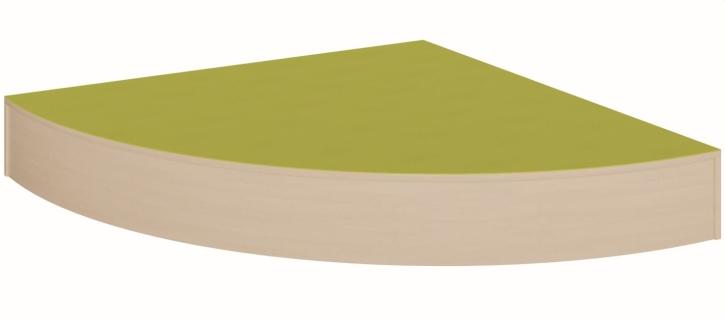 Eckpodest Viertelkreis - groß, rundum geschlossen,  B/T 150 x 150 cm