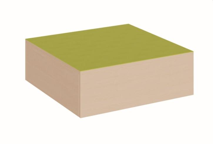 Quadratpodest klein, rundum geschlossen, B/T 70 x 70 cm
