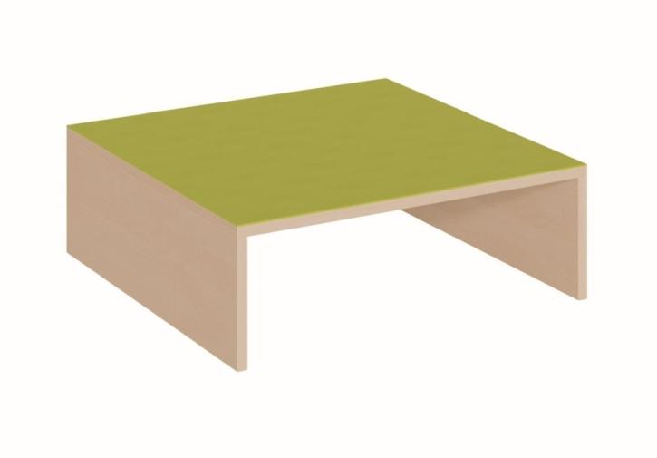 Quadratpodest vorn offen für 1 tiefen Rollkasten, B/T 70 x 70 cm