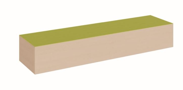 Schmales Podest rundum geschlossen, B/T 150 x 40 cm