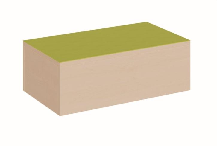 Schmales Podest kurz, rundum geschlossen, B/T 70 x 40 cm