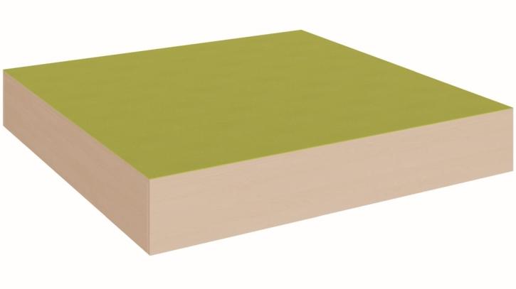 Quadratpodest, rundum geschlossen, B/T 150 x 150 cm