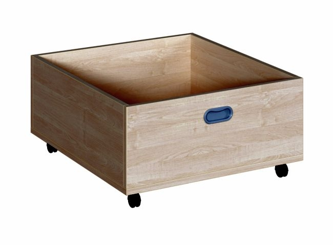 Tiefer Rollkasten für 35 cm hohe Podeste, B/H/T 62 x 31 x 66 cm