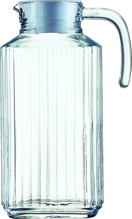 """6 Stück """"Quadro"""" Kühlschrankkrug mit Deckel 1,70 Liter, Ø 12,6 x H 25,6 cm"""