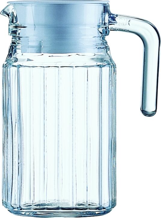 """6 Stück """"Quadro"""" Kühlschrankkrug mit Deckel 0,50 Liter, Ø 8,5 x H 15,7 cm"""