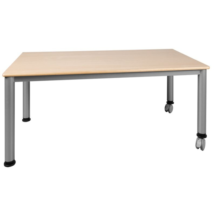 Fahrbarer Rechteck-Tisch mit Stahlgestell (Variante wählen)