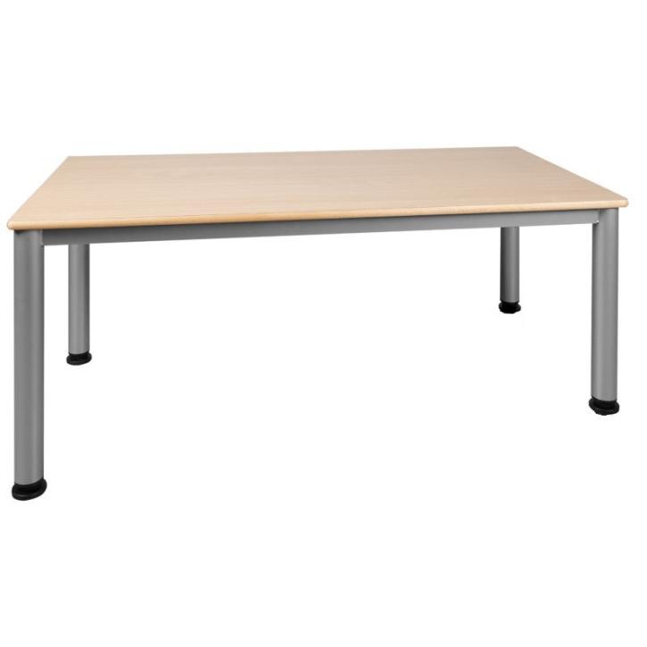 Feststehender Rechteck-Tisch mit Stahlgestell (Variante wählen)
