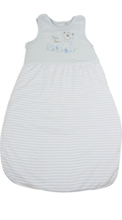 Schlafsack 70 cm, hellblau, 100 % Baumwolle, 60 Grad waschbar, trocknergeeignet