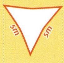 Sonnensegel wind- und wasserdurchlässig, Dreieck 5 x 5 m (Farbe wählen)