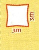 Sonnensegel wind- und wasserdurchlässig, Quadrat 3 x 3 m (Farbe wählen)