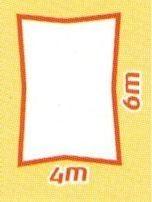 Sonnensegel wind- und wasserdurchlässig, Rechteck 4 x 6 m (Farbe wählen)