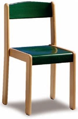 Farbiger Sitz und Rückenlehne