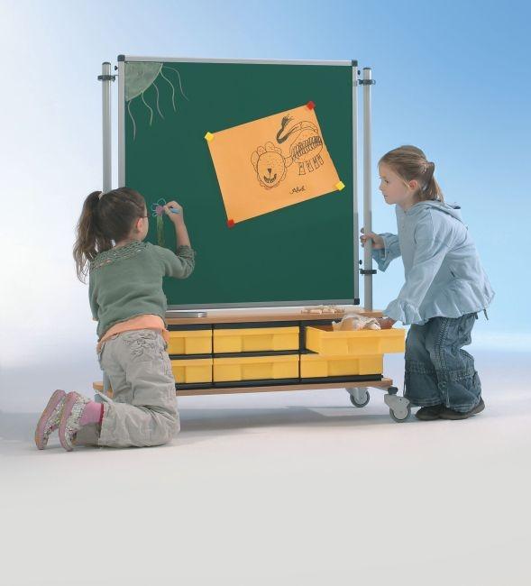 BoxBoard Emailletafel, mit 6 flachen InBoxen, B/H/T 103 x 120 x 45 cm