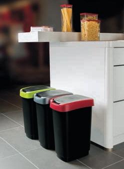 Mülleimer mit Klapp- oder Schwingdeckel (Größe und Farbe wählen)