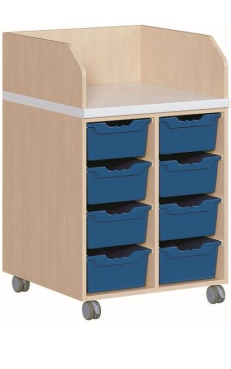 fahrbare Wickelkommode, Tiefe 71 cm, B/H 70,5×111 cm, 8 Boxen