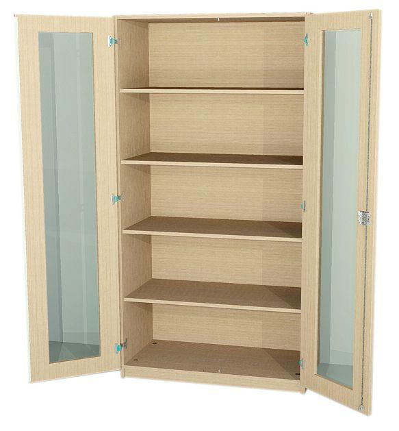 schrank mit glast r 190 cm hoch ma e w hlen 135 011. Black Bedroom Furniture Sets. Home Design Ideas