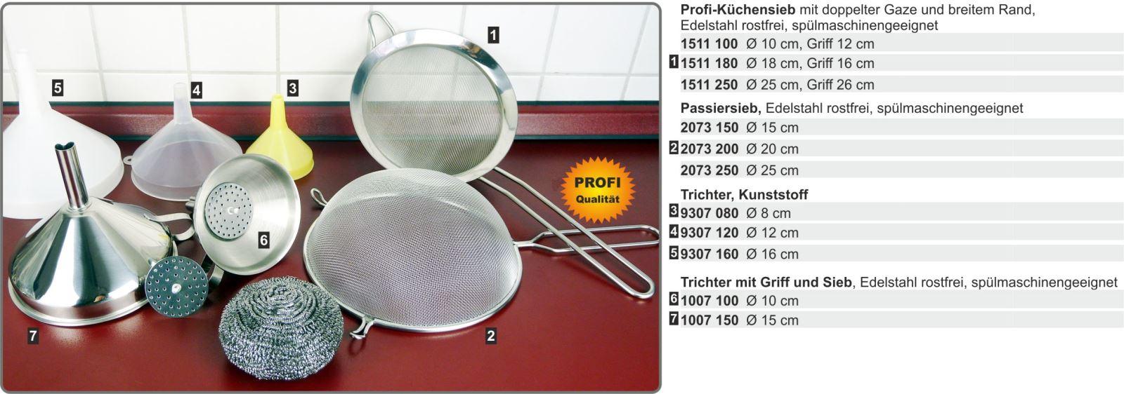 Sieb Kunststoff-Griff mit Edelstahl-Schaumlöffel 26 cm