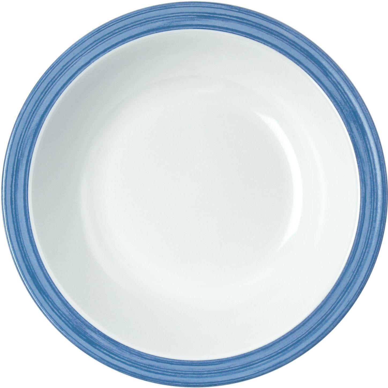 Melamin Bistro 10 Suppenteller Teller Tief Blau O 205 Mm 1926 222